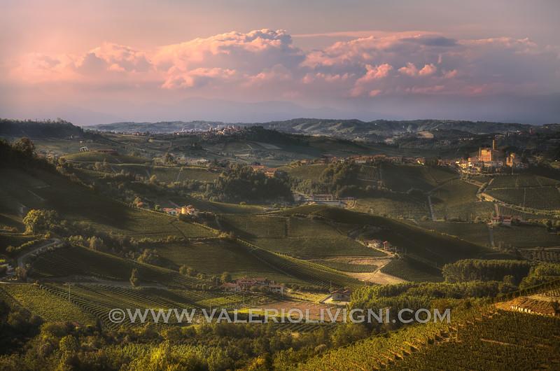 Vineyard landscape from Serralunga d'Alba