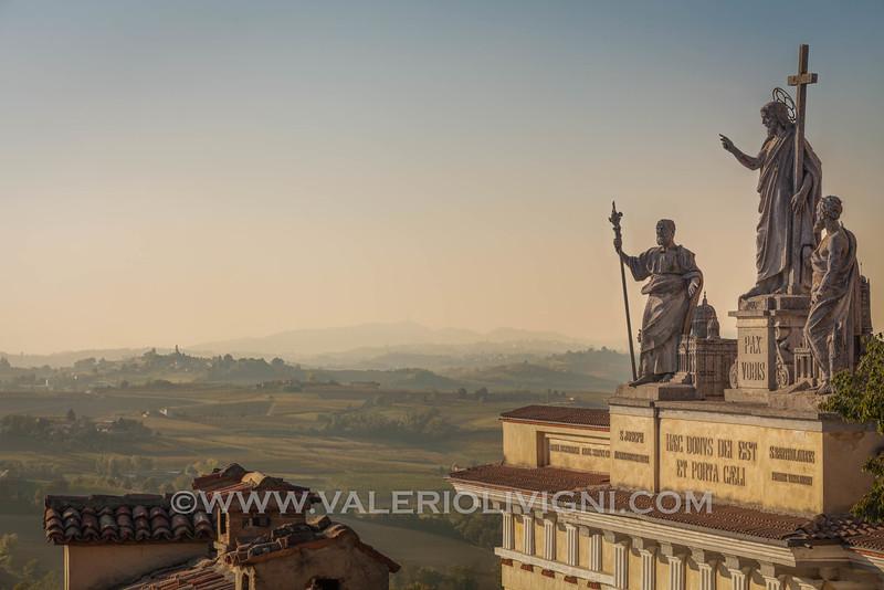 Monferrato - Fall vineyard landscape from Vignale Monferrato (church of San Bartolomeo on th right)