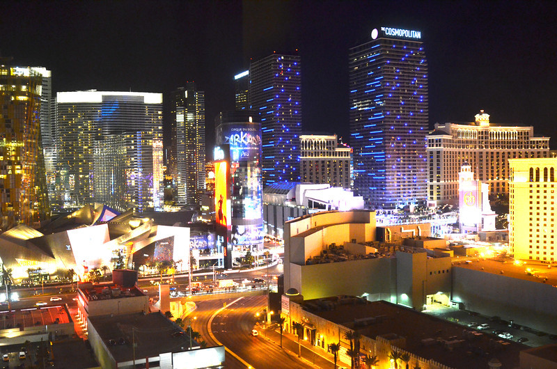 Harmon Avenue Looking at City Center in Las Vegas