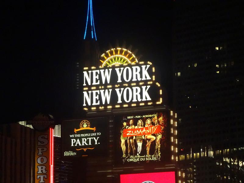 New York New York in Las Vegas NV at Night