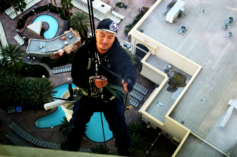 Window Washing at the Monte Carlo 30th Floor in Las Vegas