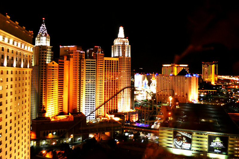 Night View of New York New York Looking from the Monte Carlo in Las Vegas Nevada