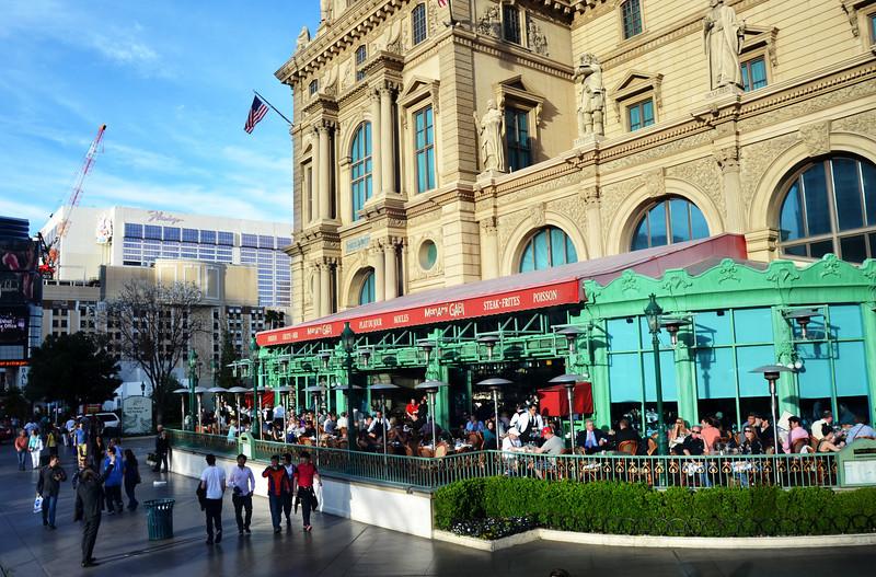 Parisian Cafe Along the Las Vegas Strip in Las Vegas NV