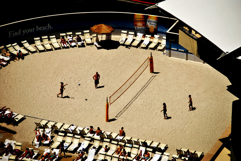 Playing Beach Volleyball at the Monte Carlo in Las Vegas