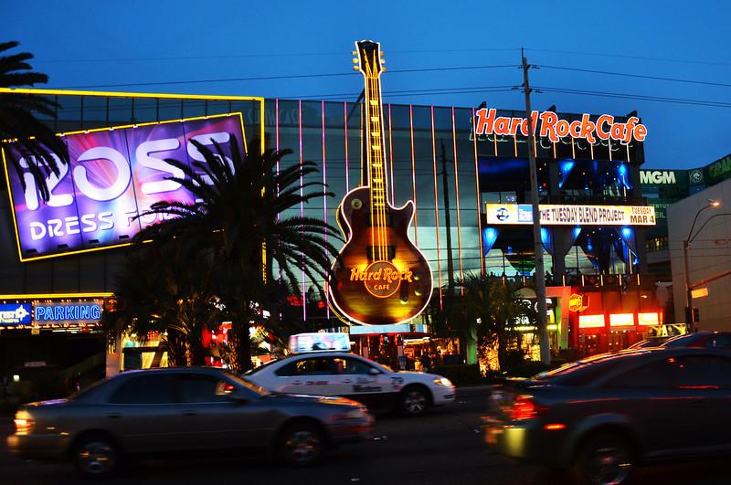 Las Vegas Boulevard at Night in Las Vegas NV