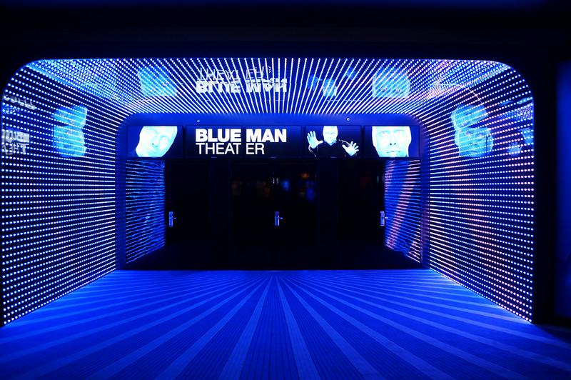 Blue Man Theater Entrance at Monte Carlo in Las Vegas