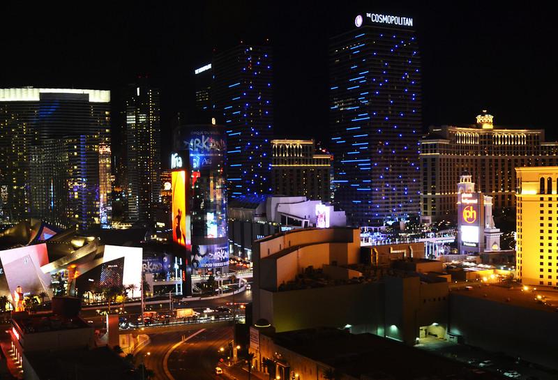 City Center at Night in Las Vegas NV