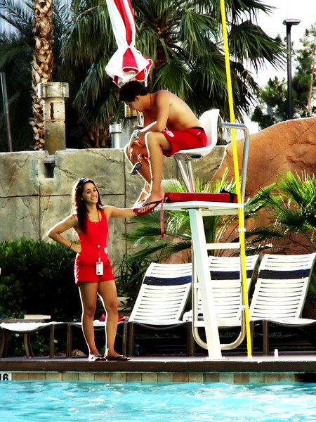 Lifeguards getting to know each other in Las Vegas