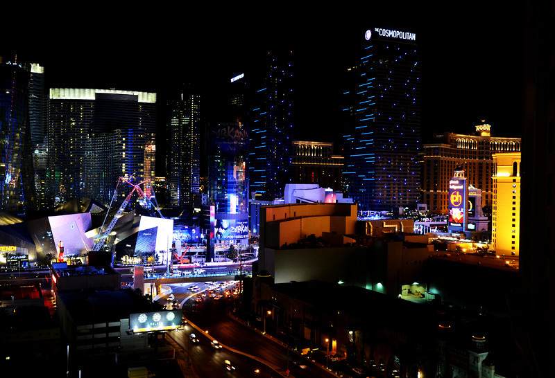 Las Vegas Looking at City Center at Night