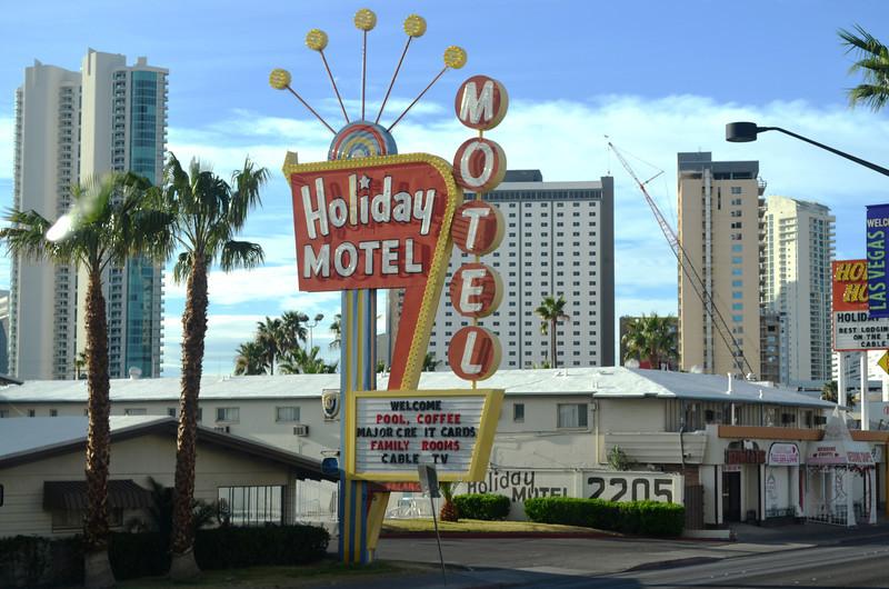 Old and New Las Vegas on Las Vegas Boulevard