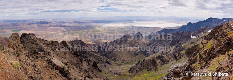 View from the East Summit  Steens Mountain Southeastern Oregon  September 25, 2011