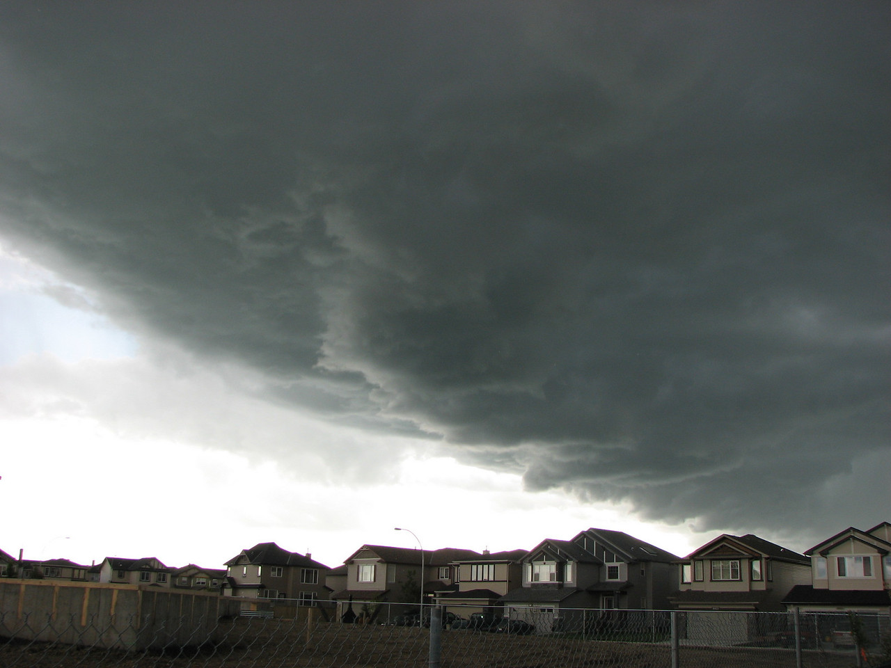 A storm rolls into Calgary