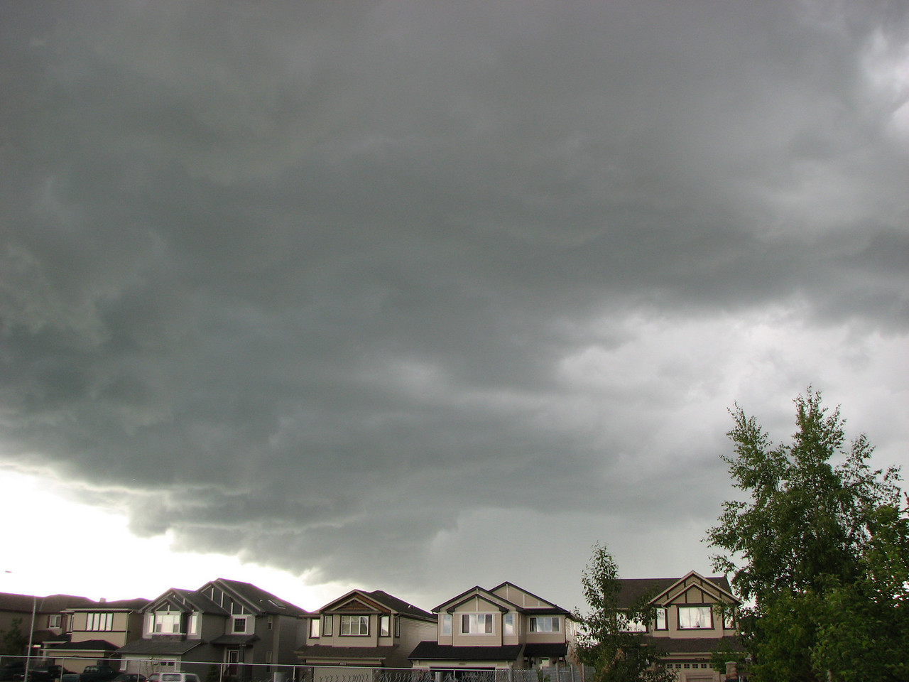 A storm rolls into Calgary