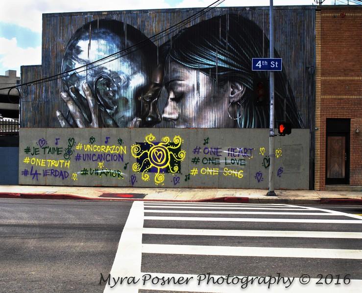 One Heart - NOT!   LA Street Art