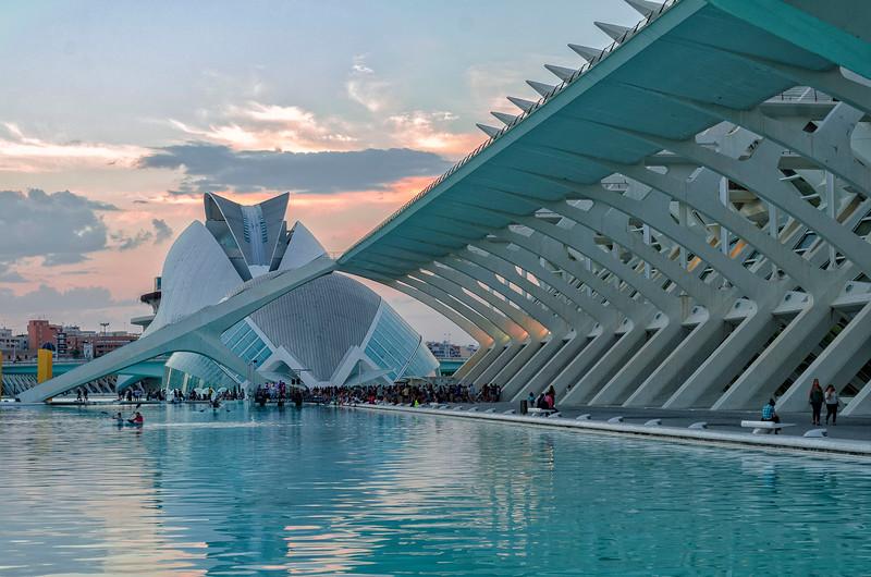 City of Arts & Sciences - Sunset