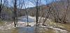 Huron River, Scio Township MI in flood 04/29/2011