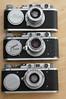 A Leica II, Zorki 1 and a FED 1