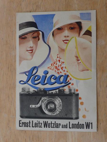 Leica leaflet 1920's