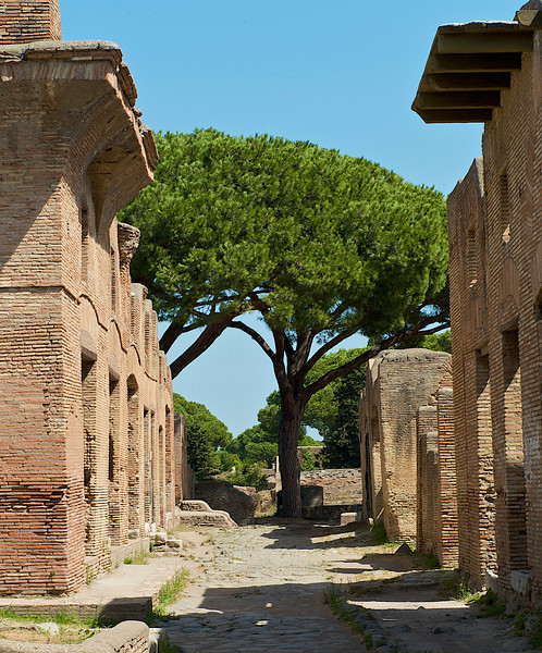 Ancient Brick and Mussolini Green