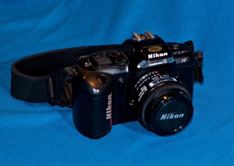 Nikon 4004 with 50mm normal lens.  Circa 1987?