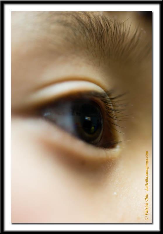 Close up shot of my daughter's eye.