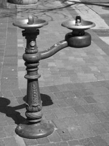 R, drinking fountain in downtown Boise, Idaho
