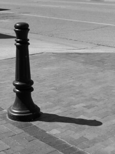 L, Traffic control post with shadow, Boise, Idaho