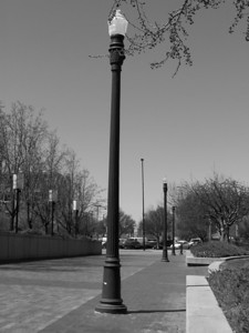 I, lamp post in Boise, Idaho