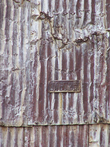 H, tin roof of Grain elevator, Grainville, ID. 11.08 (This one is hard to see.  Tone on Tone letter H, the plate makes the center bar of the H. It seems more visible in thumbnail size.)