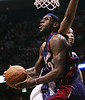 Cleveland Cavaliers LeBron James vs New Jersey Nets during the first half of  NBA game three Eastern Conference semi final basketball game on Saturday, May 12, 2007, at Continental Airlines Arena in East Rutherford, New Jersey. (Lew Stamp/Akron Beacon Journal) Not for sale