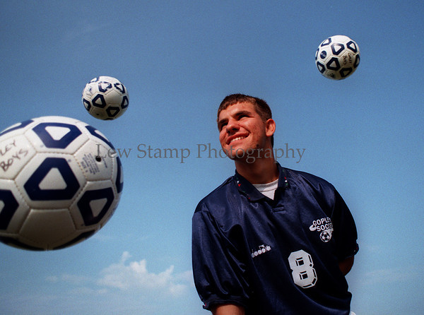 Copley High School - Soccer player Steve Brdarski. (cq) ( Lew Stamp 8-21-96)