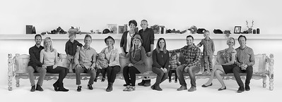 Family Portrait and Longest Bench Ever, Mesa, Arizona