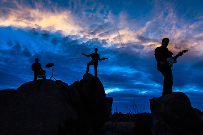 Incredible sky for this silhouette shot. Dutton family Arizona desert. 2015