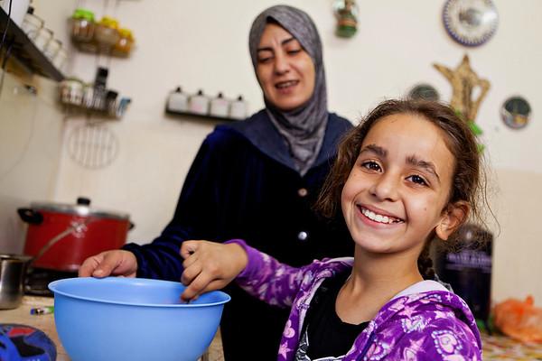 Baking with Mom, Bethlehem, West Bank