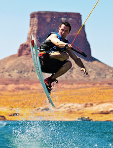 Grabbing Air on the Lake, Lake Powell, AZ