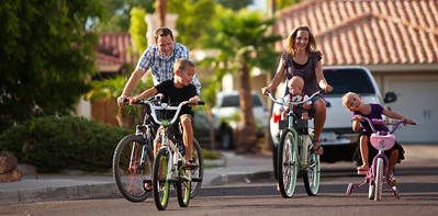Family fun bike ride, Mesa, AZ