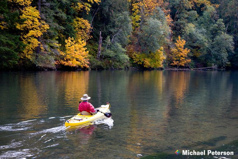 Northwestern Lake Kayaker