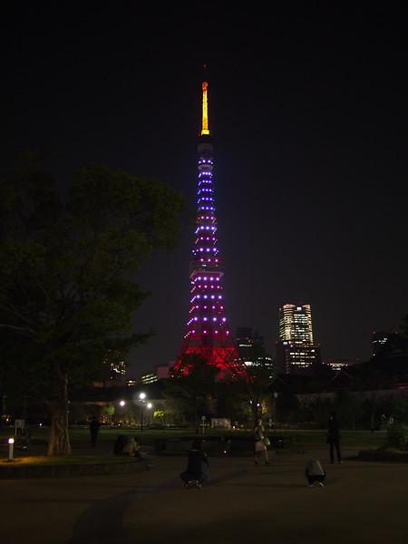 芝公園から星条旗タワー