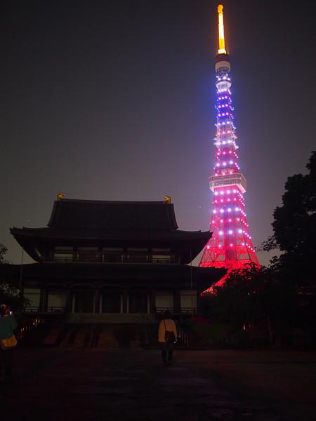 増上寺と星条旗タワー