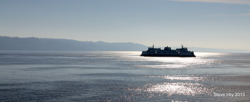 Crossing the sound Mukilteo to Clinton