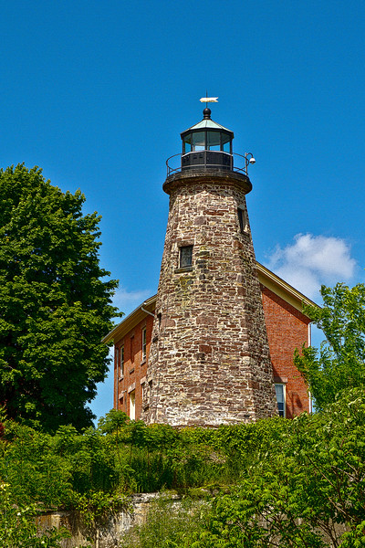 Charlotte Lighthouse on Lake Ontario in Rochester, New York