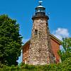 Charlotte Lighthouse on Lake Ontario in Rochester, New York