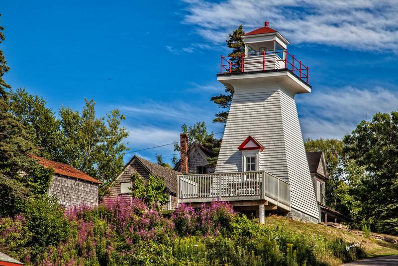 Hampton Beach Lighthouse, on the Bay of Fundy, Nova Scotia, Canada