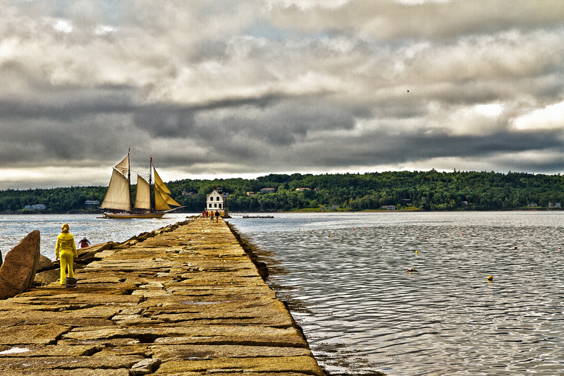 Rockland Harbor Lighthouse in Maine