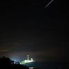 Perseid meteor over Montauk Lighthouse, New York