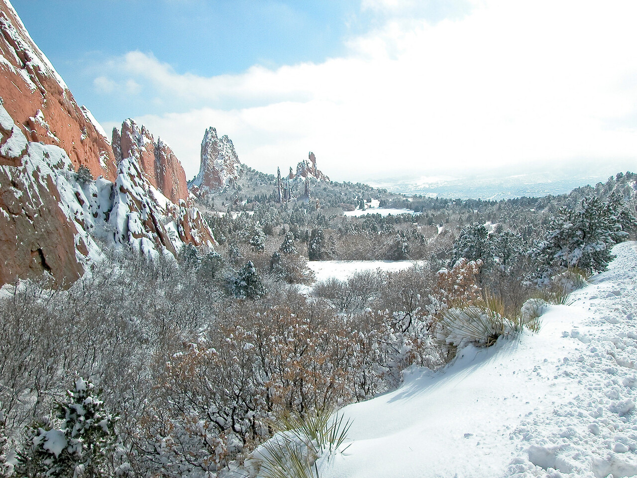 Here's a shot from a spring storm in the Garden of the gods in Colorado Springs.