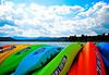Canoes, Coeur D'Alene, ID.