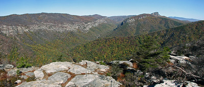 Looking north up Linville Gorge from Shortoff Mt