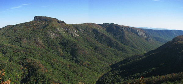 View down Linville Gorge from Wiseman's view