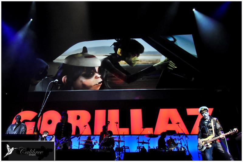 GORILLAZ Live at Oracle Arena  Copyright Calibree Photography 2010